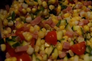 Summertime Corn and Ham Salad