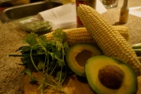 Fresh Ingredients for Corn Salsa