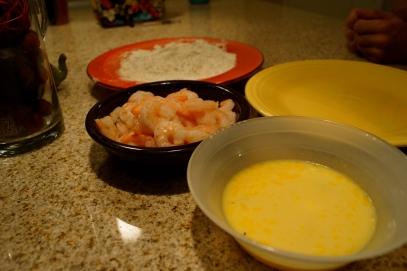 Breading the Shrimp