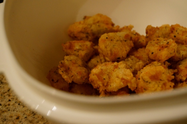 Fried Shrimp (before sauce was added)