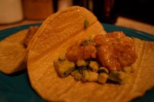Bubba Gump Shrimp Tacos and Corn Salsa