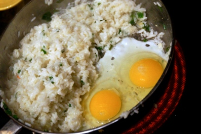 Cooking Eggs and Rice