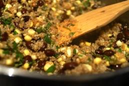 Honey-lime quinoa mixture