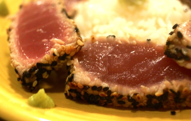 Sesame Seared Ahi Tuna Appetizer