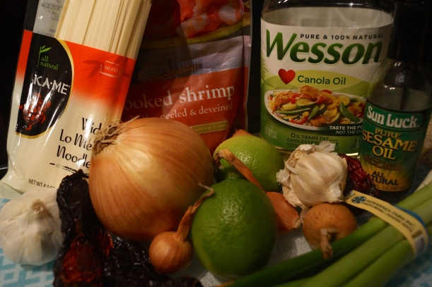 Ingredients for Malaysian Egg Noodles with Chili