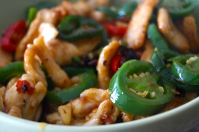 Stir-Fry Chicken with Peppers