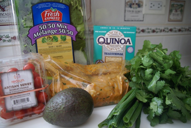 Ingredients for Honey Chipotle Chicken Bowls