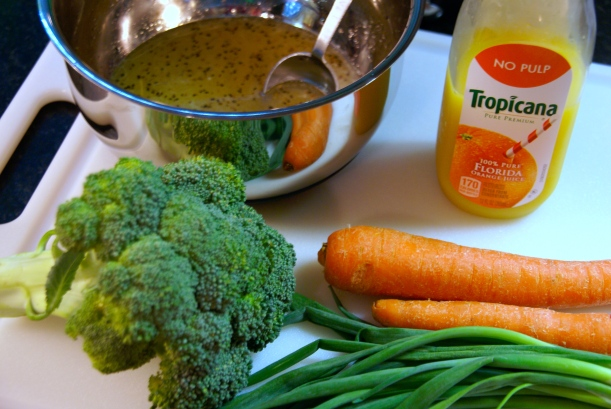 Ingredients for Citrus Chicken Rice Bowl