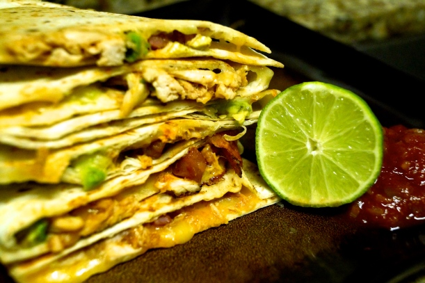 BBQ Chicken and Avocado Quesadillas
