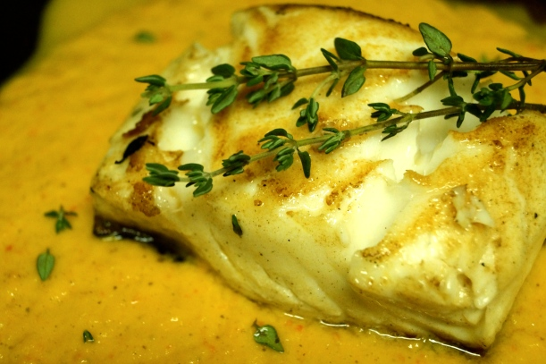 Chilean Sea Bass with Pepper Sauce