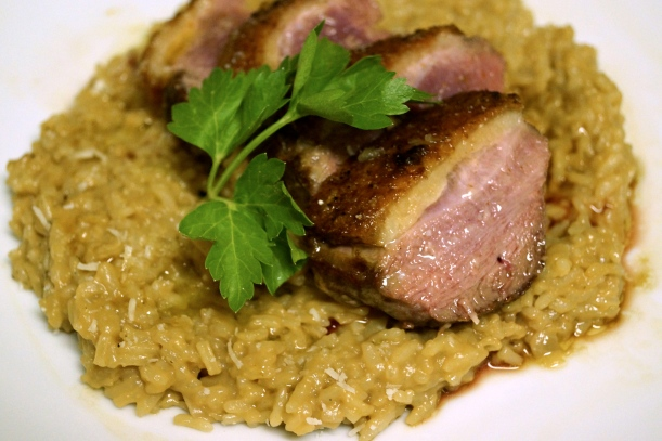 6 - Risotto with Crispy Duck Breast and White Balsamic Vinegar